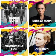 Danko Jones, Melissa Horn, Mbongwana Star och Ane Brun m.fl. till Malmöfestivalen!