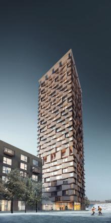 Grönt ljus för 29 våningar studentbostäder i Uptown Nørrebro