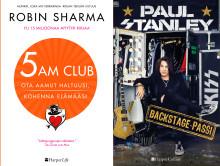 HarperCollins Nordicin tietokirjasyksy tarjoaa aamuherätyksiä ja rokkarin elämää