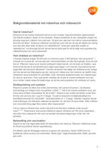 Bakgrundsmaterial om rotavirus och rotavaccin