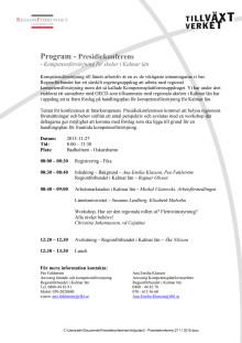 Inbjudan/program till presidiekonferens 27 november 2015