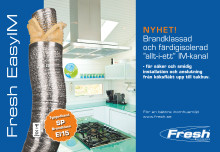 Säkrare och bekvämare installationer med Freshs böjbara imkanal