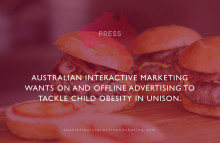 Australian Interactive Marketing wants on and offline advertising to tackle child obesity in unison.