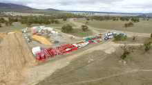 Construction progressing well at Ararat wind farm, Victoria, Australia