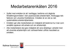 Medarbetarenkät 2016
