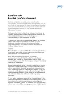 Faktablad – om Lymfom och KLL