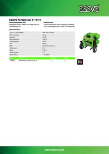 Produktblad - ESSVE C 16/10