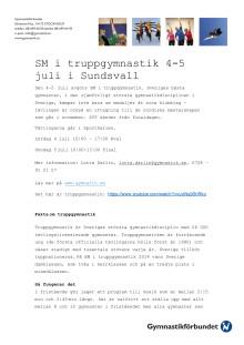 Fakta om truppgymnastik och SM-tävlingen