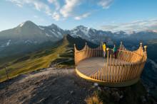 """Balkonfahrt zum Gipfel: Der neue """"Royal Ride"""" in Wengen (Bern)"""