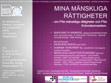 Seminariekvällen om Mänskliga rättigheter 22 nov i Stockholm