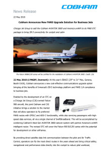 Cobham Announces New FANS Upgrade Solution for Business Jets