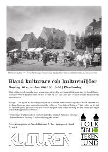 Inbjudan föreläsning: Bland kulturarv och kulturmiljöer