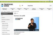 Teckenspråk på kommunens webbplats