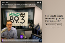 Adrian Choo sets the pace for radio interviews and for over-40 job seekers