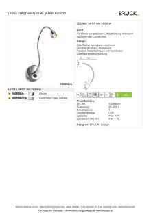 Produktblad Bruck LEDRA Spot Flex som pdf.