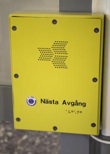 Pratorer har installerats i syfte att underlätta bussresan för synskadade resenärer