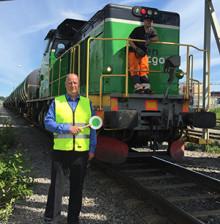 Utan tåget lyfter inte flyget - Green Cargos 5000:e tåg med flygbränsle ankommer Arlanda den 13 juni