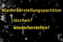 Wiederherstellungspartition in Windows 7/8/10 sicher löschen - MiniTool