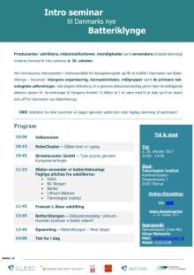Invitation: Introseminar til Danmarks nye batteriklynge