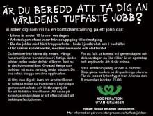 """Svensk kvinna sökes till  """"världens tuffaste jobb"""""""