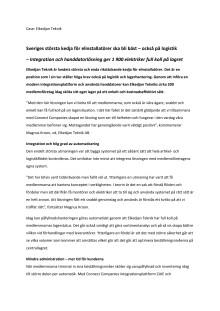 Sveriges största kedja för elinstallatörer ska bli bäst – också på logistik