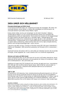 IKEA UMEÅ OCH HÅLLBARHET