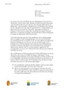 Landshövdingarnas brev till Havs- och vattenmyndigheten