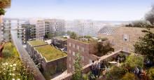 Nu börjar  bostäderna att byggas i Roslags-Näsby