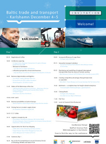 Program för Baltic trade and transport 4-5 december 2014