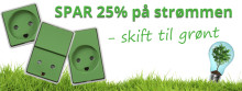 Ny grøn stikkontakt sparer 25% på strømmen.