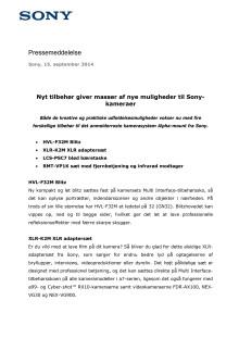 Nyt tilbehør giver masser af nye muligheder til Sony-kameraer