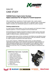 Case Study - YANMAR Mastry Engine Center Develops Highly Customized Tier 4F Engine for Puckett Equipment