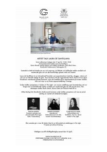 Inbjudan till artist talk Laura de Santillana