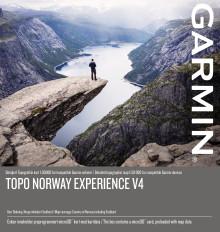 Topo Norway Experience v4 - detaljert topografisk kart 1:50 000 for kompatible Garmin enheter og PC/Mac