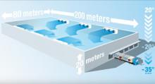 Stora EC-fläktar i extremt snabb frysprocess för livsmedel i gigantisk lagerbyggnad