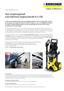 Tyst rengöringskraft med Kärchers högtryckstvätt K 5.700