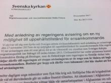 Svenska kyrkan till regeringen: våra krav står kvar – stoppa utvisningarna