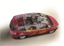 Ford S-MAX- ja Galaxy-tila-autoille täydet viisi tähteä Euro NCAP:n turvallisuustesteissä