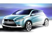 Ny konceptbil med miljövänlig prestandadiesel och fyrhjulsdrift från Mitsubishi Motors