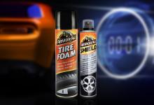 Spraya däck och fälgar – för rengöring, glans och skydd