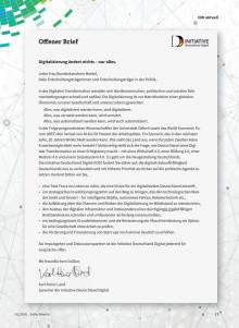 Offener Brief: Digitale Zukunftsfähigkeit Deutschlands neu verhandeln