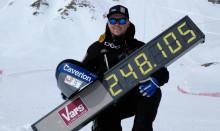 Svenskt hastighetsrekord på skidor: 248,105 km/h