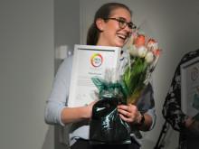 """Maja Eneström 19 år (Enebyberg) får hedersomnämnandet """"Årets Elevassistent"""" för sina insatser inom skola"""
