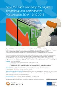 Bussworkshop för säljare, besöksmål och destinationer i Västerbotten 30/9 – 1/10 2016