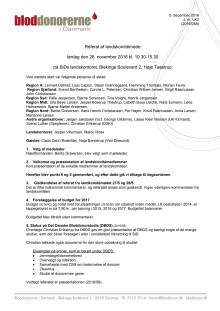 Referat af Landskomitémøde 28. november 2016