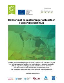 Marknadskartläggning - en inventering av hållbar mat på restauranger och caféer i Södertälje kommun