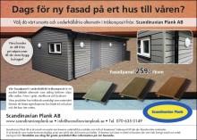 Ny annons för fasadpanel i underhållsfri träkomposit från Scandinavian Plank AB