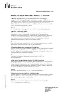 Malmös arbete mot social hållbarhet 22 exempel