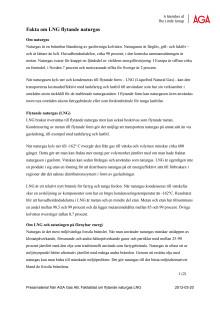 Fakta om LNG flytande naturgas
