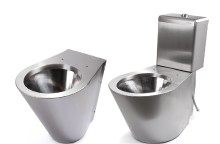 New version of stainless steel toilets